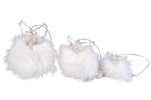 Engel mit Federkleid und Lichterkette z. Hängen