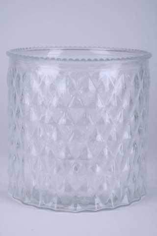 Glas Zylinder mit Raute