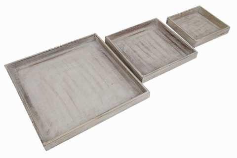 Holztablett quadratisch