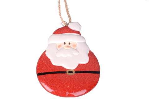 Weihnachtsmann zum Hängen Steinzeug