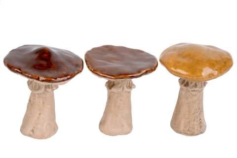Pilze Steinzeug, 3 Modelle