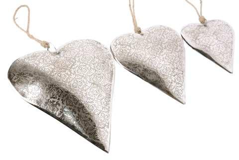 Metall Herz mit Ornamentenmuster