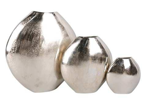 Tischvasen Aluguß oval