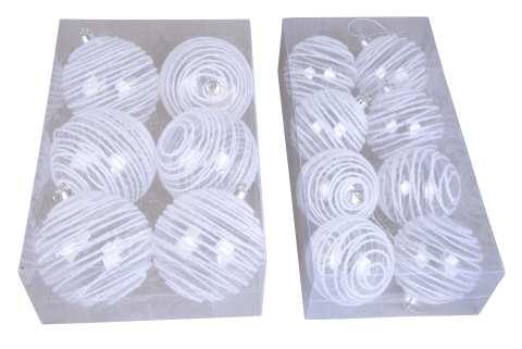 Kunststoffkugel trasparent mit Schneelinie