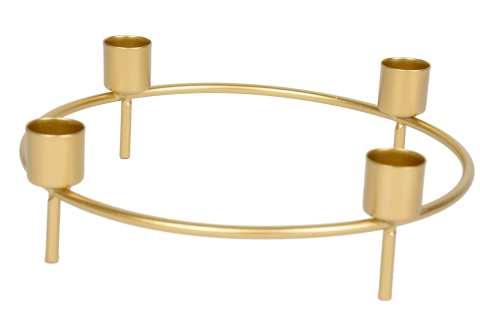 Metall-Kerzenhalter rund