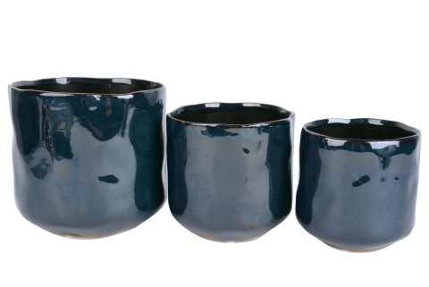 Keramiktopf wellig