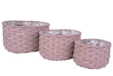 Holzkorb oval Set/3