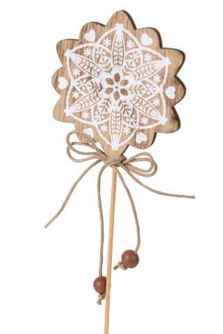 Ornament Holz am Stab