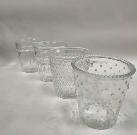 Glastopf klar, 4 Modelle