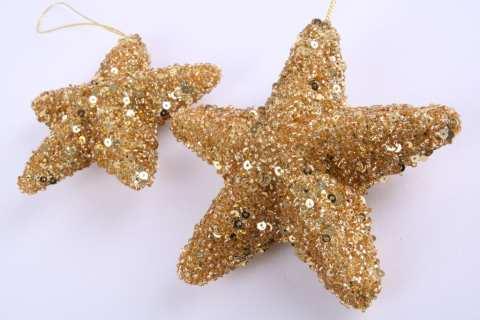 Stern Glitter 3D Hänger