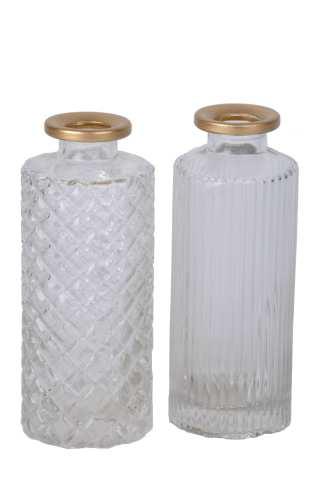 Glasflasche mit Goldrand