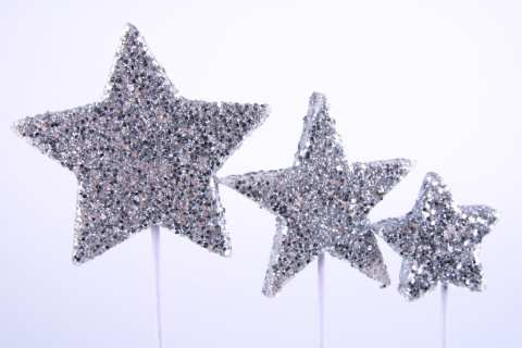Glitterstern am Stab - 48 St