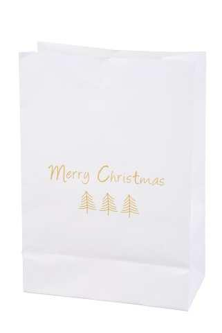 Papiertüte mit Klammer - Merry Christmas