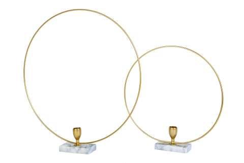 Metallring für Kerze Marmorbasis