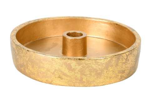 Kerzenhalter Schale Beton mit Blattgold