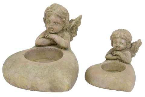 Herz mit Engel für Teelicht