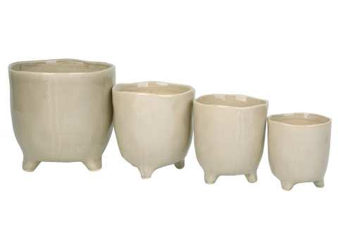 Keramiktopf Beatrice auf Fuß