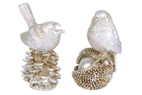 Vogel auf Zapfen - 2 Modelle