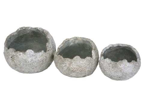 Kugel Keramik aufgebrochen zum Pflanzen