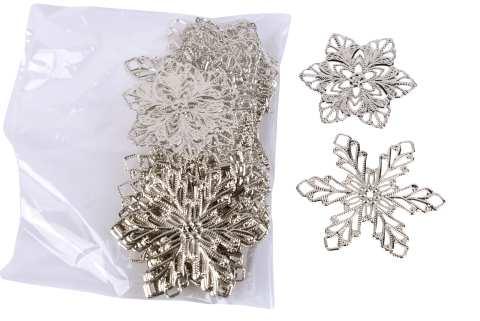 Schneeflocke Metall flach z. Streuen 2 Mod.