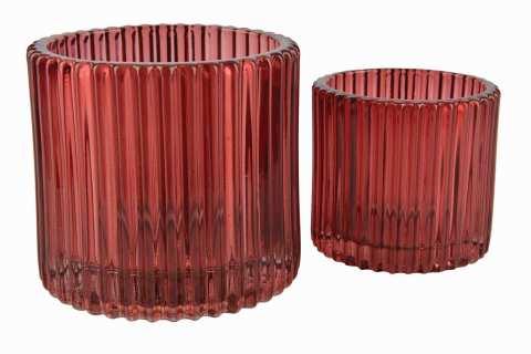 Teelichtglas Stripes