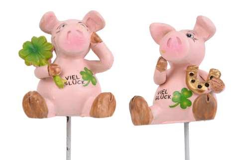 Schweinchen Poly am Draht