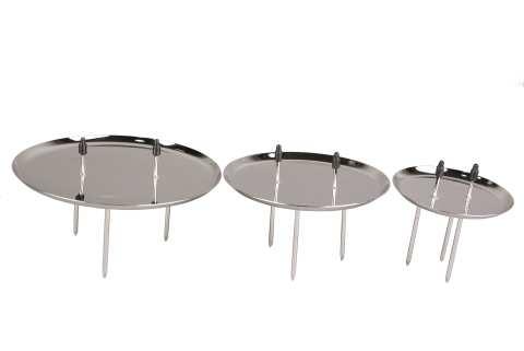 Metallkerzenhalter oben 2 Pik / unten 3 Pik
