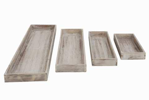 Holztablett rechteckig