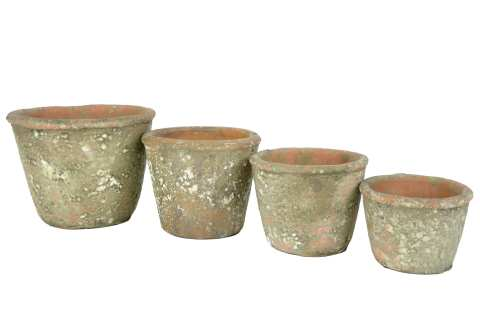Keramiktopf bemoost