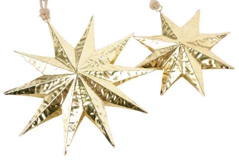 Stern Metall zum Hängen - Knitterdesign
